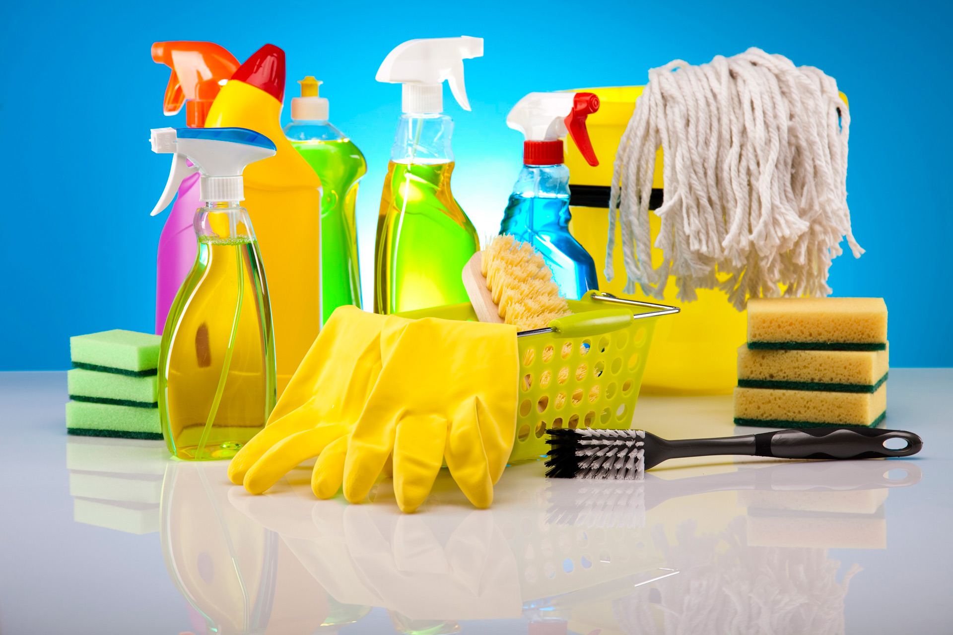 cleaning products affects lungs
